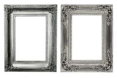 El marco antiguo en el fondo blanco Fotografía de archivo libre de regalías