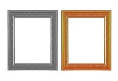El marco antiguo en el fondo blanco Foto de archivo