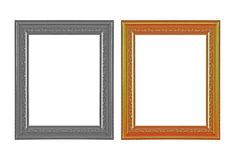 El marco antiguo en el fondo blanco Imagenes de archivo