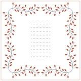 El marco cuadrado con rojo se va en el fondo blanco Imagen de archivo libre de regalías