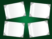 El marco de Copyspace indica límite y confinar de la hoja ilustración del vector