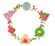 El marco de cosas dulces Foto de archivo libre de regalías