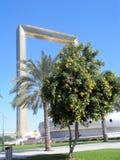 EL MARCO DE DUBAI Parque de Zabeel Dubai, United Arab Emirates fotografía de archivo libre de regalías