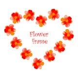 El marco de la flor de la acuarela Fotografía de archivo