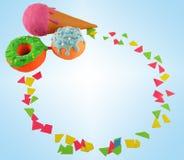 El marco de las cosas dulces 2 Fotos de archivo