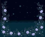 El marco de las ramas de rosas salvajes Fotos de archivo libres de regalías