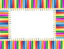 El marco de los lápices Imagenes de archivo