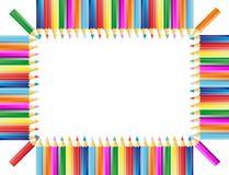 El marco de los lápices Fotografía de archivo