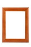 El marco de madera aisló Imagen de archivo
