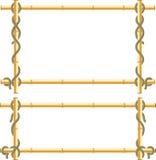 El marco de madera de los palillos de bambú envolvió en cuerda libre illustration