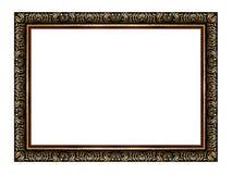 El marco de madera y del oro antiguo Fotos de archivo libres de regalías
