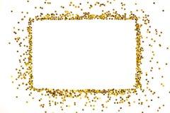 El marco de oro asteroide de las lentejuelas arregló en una forma rectangular Fotos de archivo