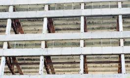 El marco de un edificio bajo demolición. Fotografía de archivo libre de regalías