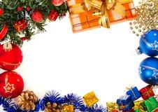 El marco del Año Nuevo aislado en el blanco, fondo Foto de archivo