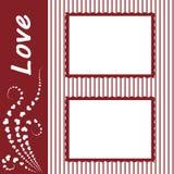El marco del día de tarjeta del día de San Valentín para Fotos de archivo libres de regalías