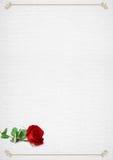 El marco del día de tarjetas del día de San Valentín con subió Fotos de archivo
