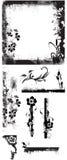 El marco del Grunge confina vectores Imágenes de archivo libres de regalías