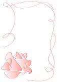 El marco del ornamento con color de rosa se levantó Fotos de archivo