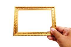 El marco del oro Fotografía de archivo libre de regalías