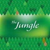 El marco del título de la etiqueta de la selva Foto de archivo libre de regalías