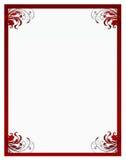 El marco floral de la tarjeta del día de San Valentín Fotografía de archivo libre de regalías