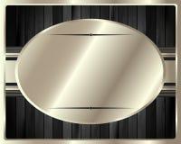 El marco metálico en un fondo de madera oscuro 13 Foto de archivo