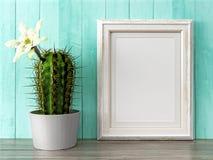 El marco moderno vacío del estilo, 3D rinde Imagen de archivo