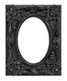 El marco negro antiguo en el blanco Fotos de archivo libres de regalías