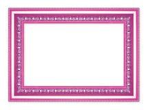 El marco púrpura antiguo en el fondo blanco Fotos de archivo