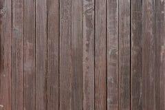 El marrón oscuro resistió a la cerca de madera Foto de archivo libre de regalías