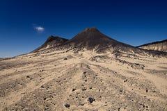EL-Marsus de Gebel en el desierto negro Fotografía de archivo libre de regalías