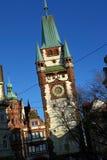 El Martinstor en Friburgo, Alemania Fotos de archivo libres de regalías