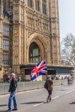 El marzo para los partidarios del brexit el 29 de marzo de 2019 imagenes de archivo