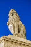 El Marzocco, el león esculpió por Donatello, el símbolo de Flor Fotografía de archivo