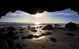 El Matador Beach Sunset. Sunset at El Matador Beach, LA, California Stock Photos