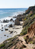 El Matador State Beach California. Pathway and steps leading down to El Matador State Beach Malibu California Royalty Free Stock Photos