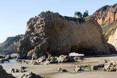 El Matador State Beach California. Rock formation by ocean on El Matador State Beach Malibu California Stock Image