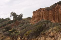 EL Matador State Beach Malibu, Kalifornien Stockfoto