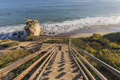El Matador State Beach Stairs in Malibu California. Stairs leading to El Matador State Beach in Malibu California Stock Image