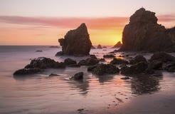 El Matador State Beach at Sunset Stock Images