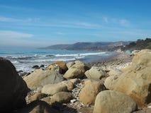El-matadorState Park stenig strand arkivfoton