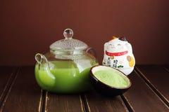 El matcha japonés delicioso y fresco del té Foto de archivo