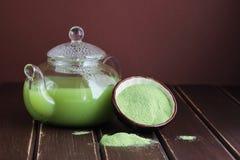 El matcha japonés delicioso y fresco del té Fotografía de archivo