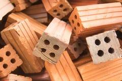 El material de construcción de ladrillo usado para la construcción de edificios Fotos de archivo