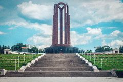 El mausoleo de héroes rumanos en Bucarest fotografía de archivo libre de regalías