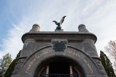 El mausoleo de John Ericsson en Filipstad Imagenes de archivo
