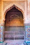 El mausoleo de las tumbas de Saadian en Marrakesh Marruecos, ?frica imagenes de archivo