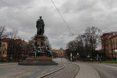 El Maxmonument, monumento de Maximiliano II de Baviera Foto de archivo