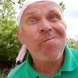 El mayor hace la cara enojada Fotos de archivo libres de regalías