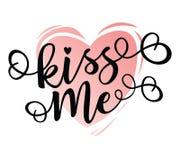 El ` me besa cartel inspirado de la motivación de las letras del ` Imágenes de archivo libres de regalías